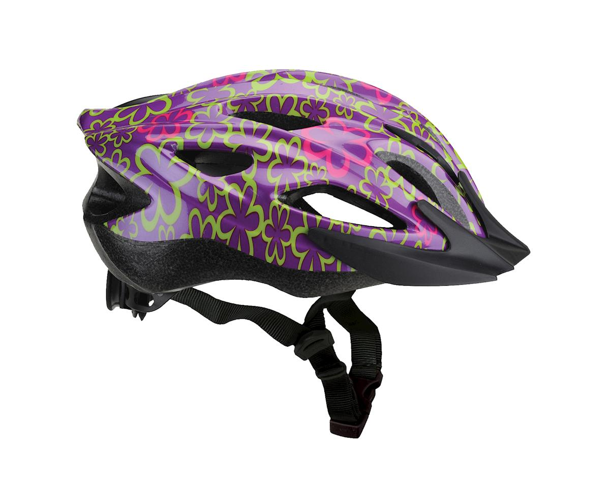 Performance Cruise Youth Helmet (Purple Flowers)