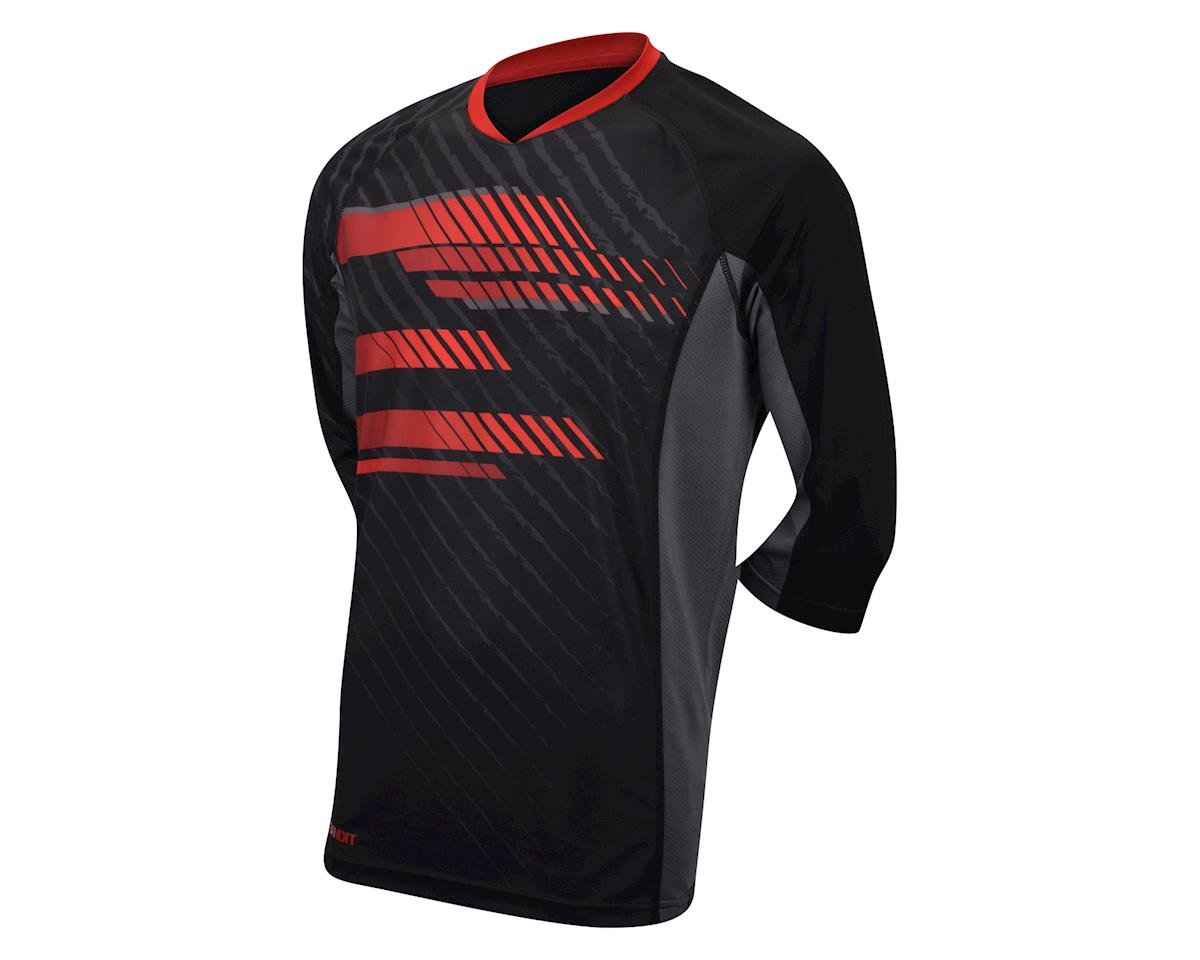 Performance Bandit Mountain Bike 3/4 Sleeve Jersey - 2017 (Black/Red) (Xxxlarge)