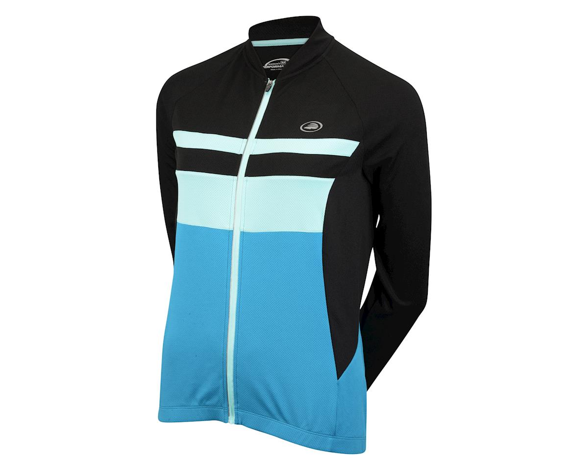 Image 1 for Performance Women's Elite Chill Long Sleeve Jersey (Blue/Black) (Xxlarge)