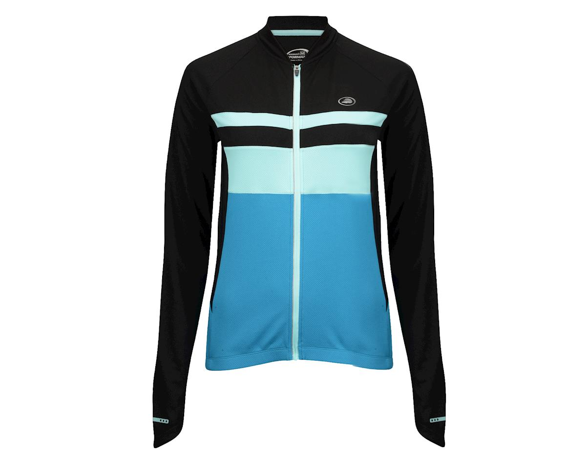 Image 3 for Performance Women's Elite Chill Long Sleeve Jersey (Blue/Black) (Xxlarge)