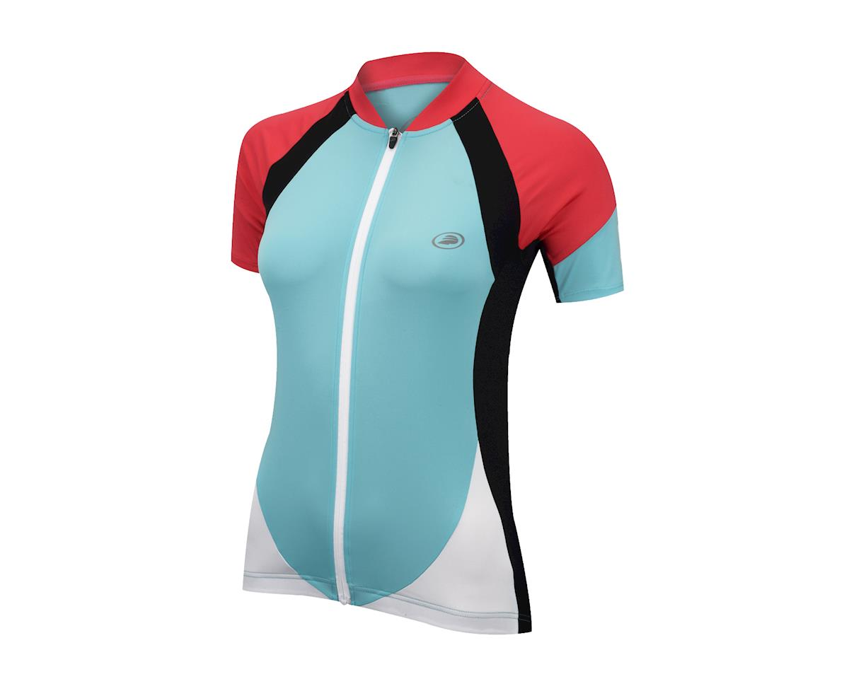 Performance Women's Elite Short Sleeve Jersey - 2017 (Blue/Pink) (Large)