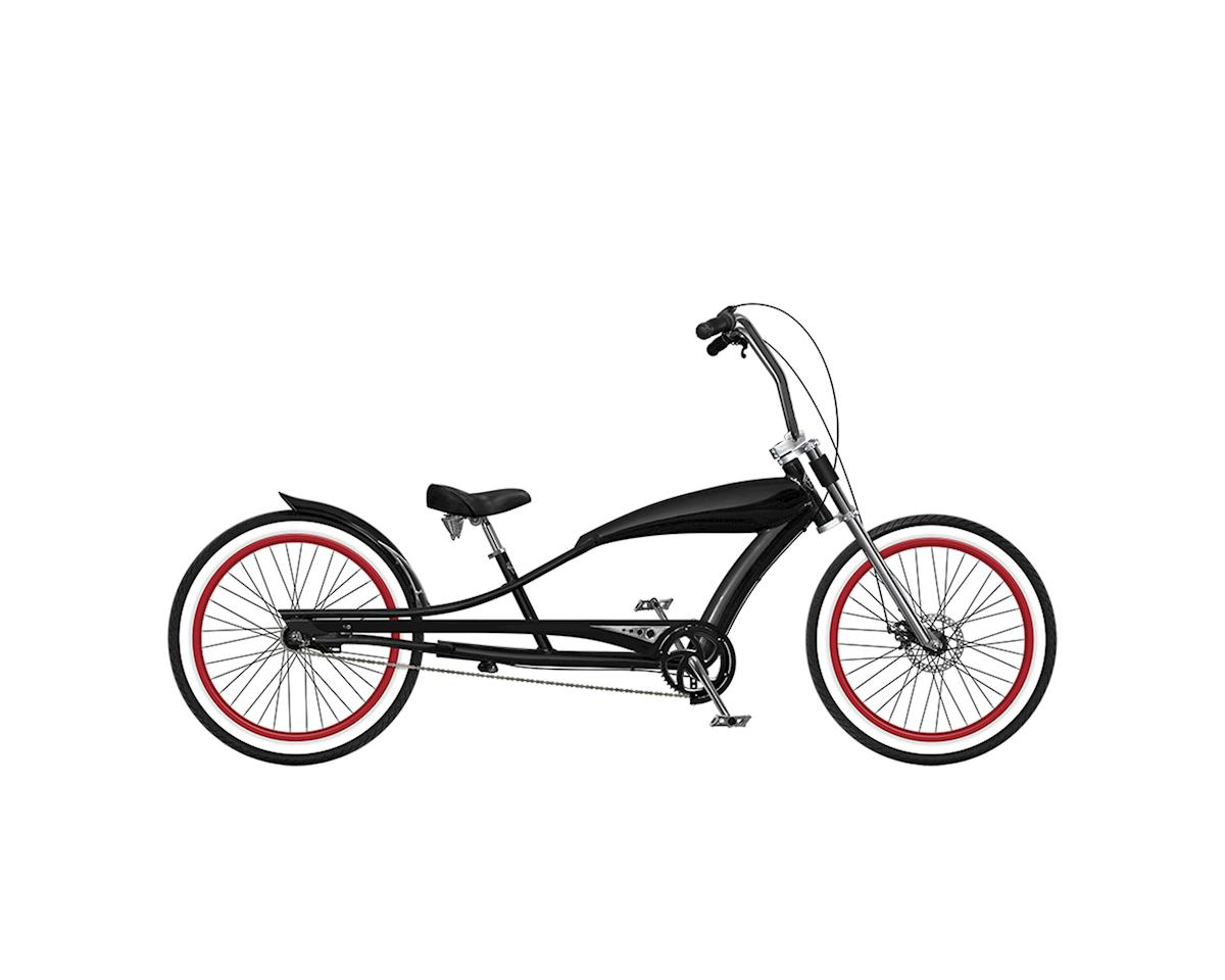 "Phat Cycles Stretch 24"" Beach Cruiser -- 3 Speed (Black)"