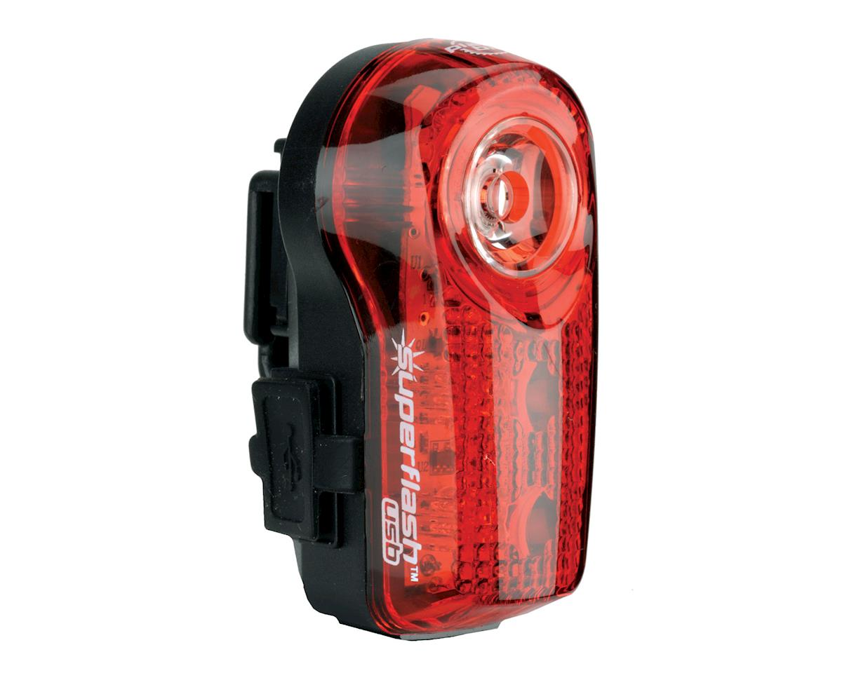Planet Bike Superflash Micro USB-Rechargeable Tail Light Red//Black