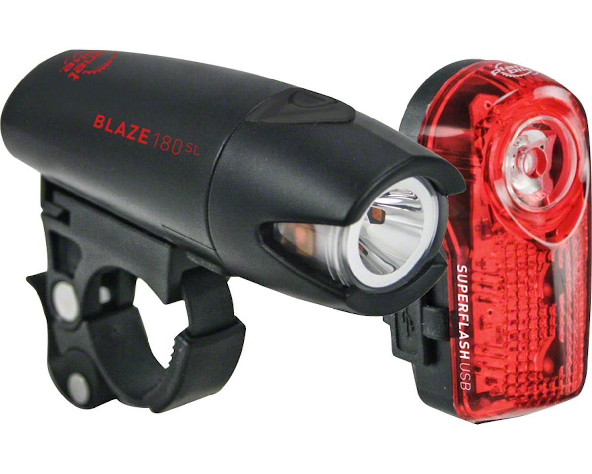 Planet Bike Blaze 180 SL Headlight w/ Superflash Taillight (Combo)