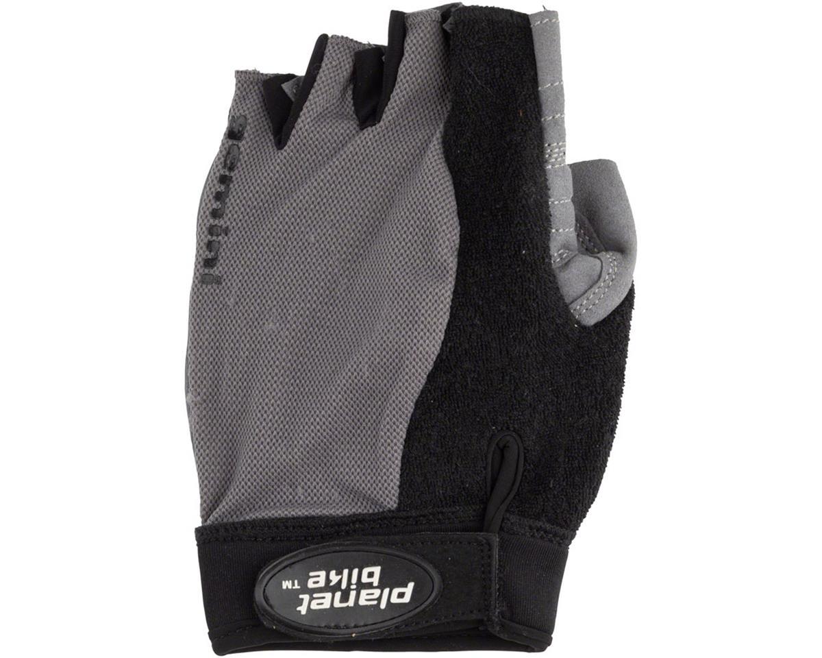 Planet Bike Gemini Fingerless Cycling Glove: Black, LG