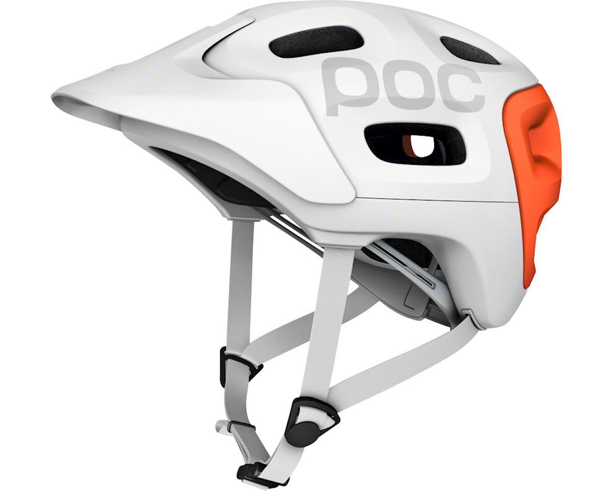 POC Trabec Race Helmet: White/Orange SM