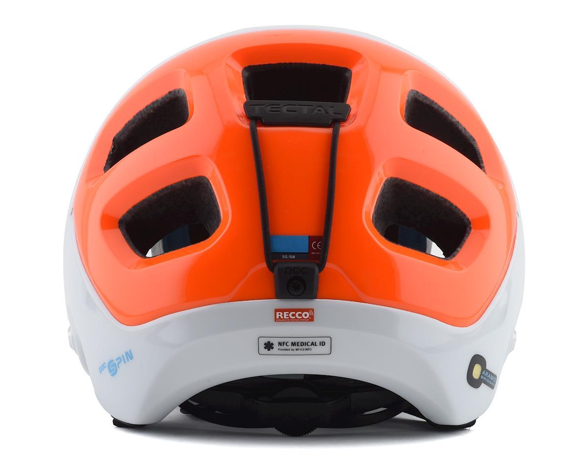 Image 2 for Poc Tectal Race SPIN NFC Helmet (Hydrogen White/Fluorescent Orange AVIP) (XL/XXL)
