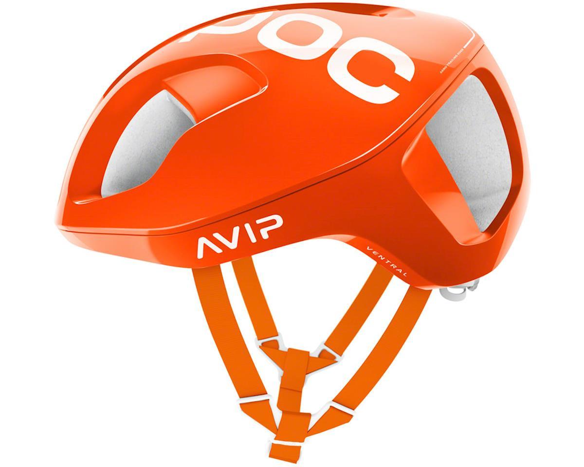 POC Ventral SPIN Helmet: Zink Orange AVIP LG
