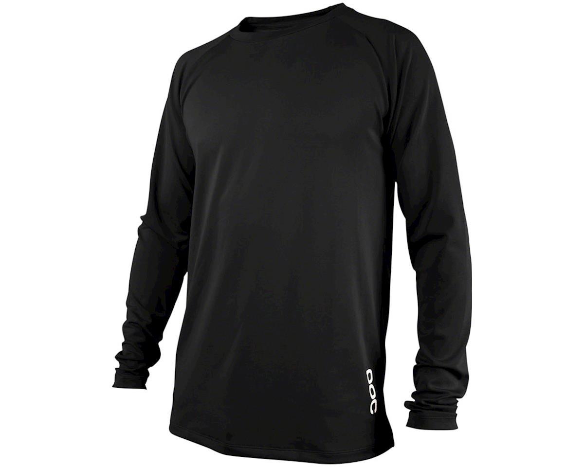 POC Resistance DH Men's Long Sleeve Jersey: Carbon Black XL