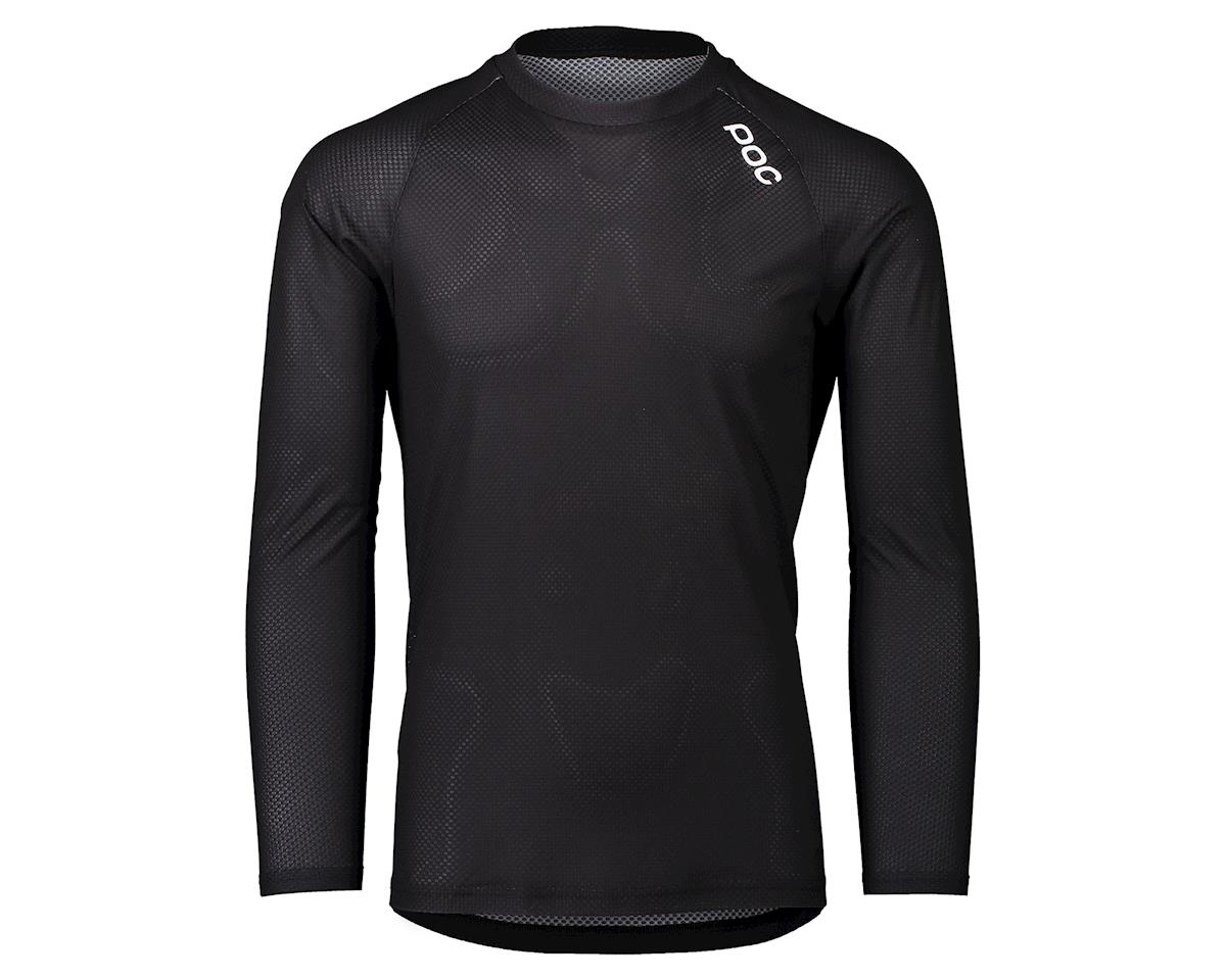 Poc Pure Long Sleeve Mountain Jersey (Uranium Black) (L)
