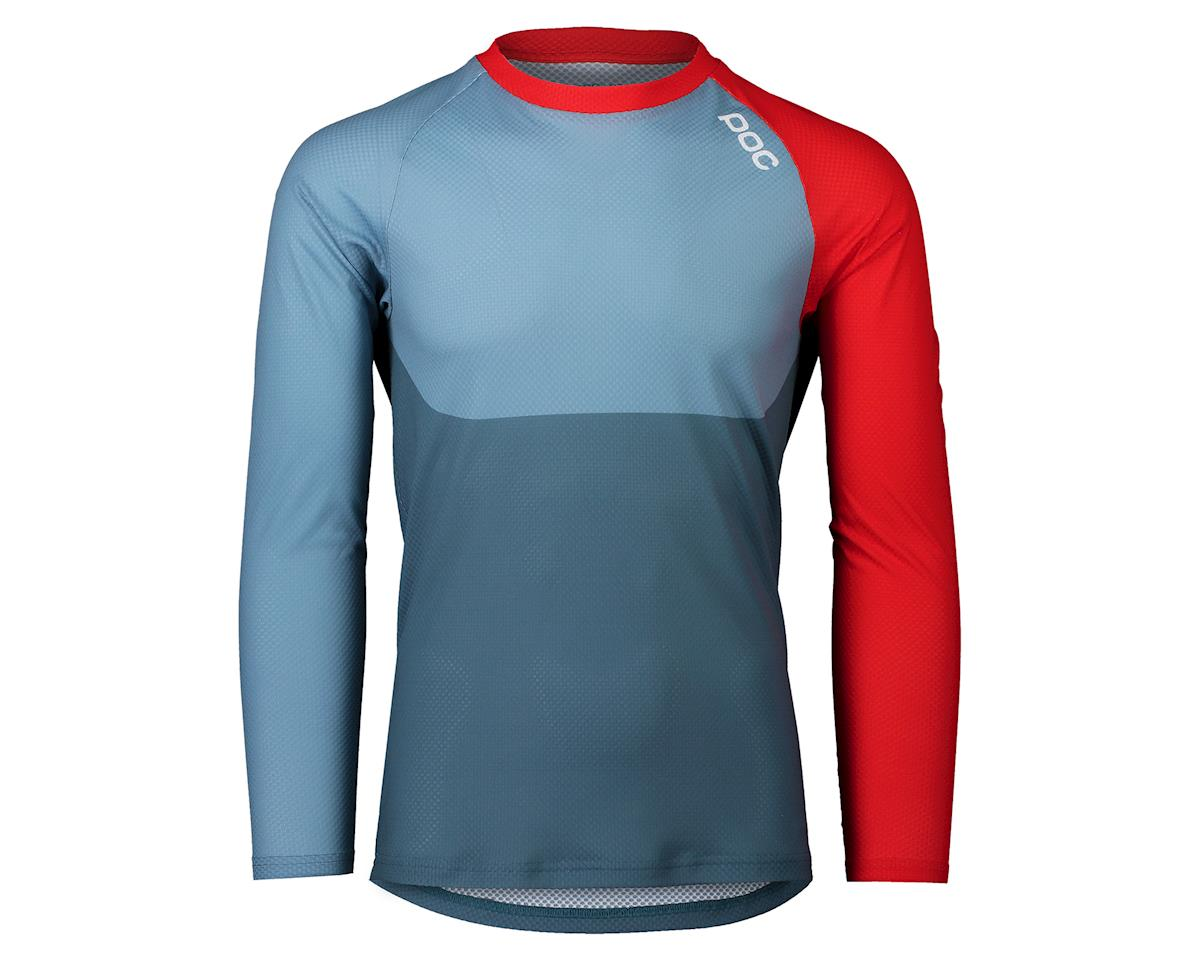 Poc Pure Long Sleeve Mountain Jersey (Calcite Blue/Prismane Red) (L)