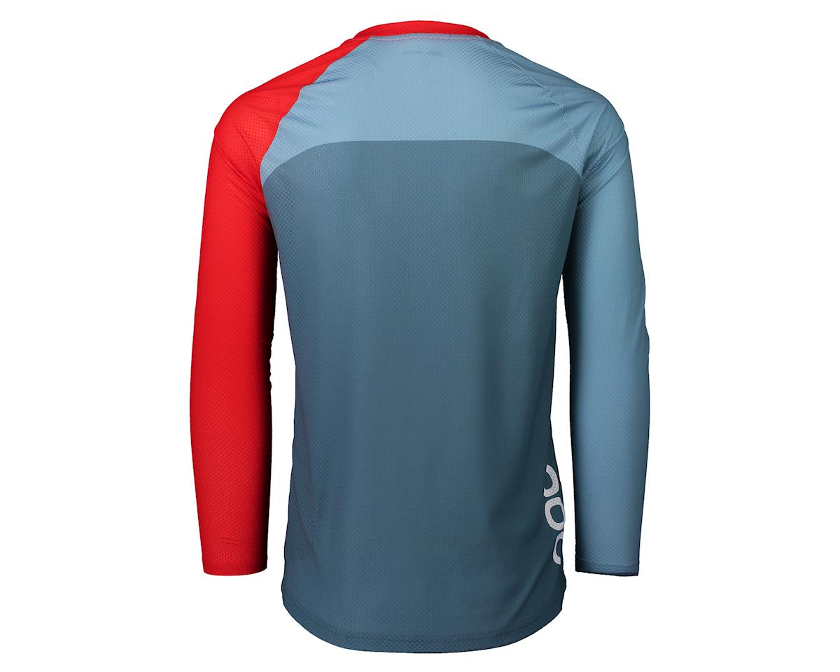 Poc Pure Long Sleeve Mountain Jersey (Calcite Blue/Prismane Red) (XL)