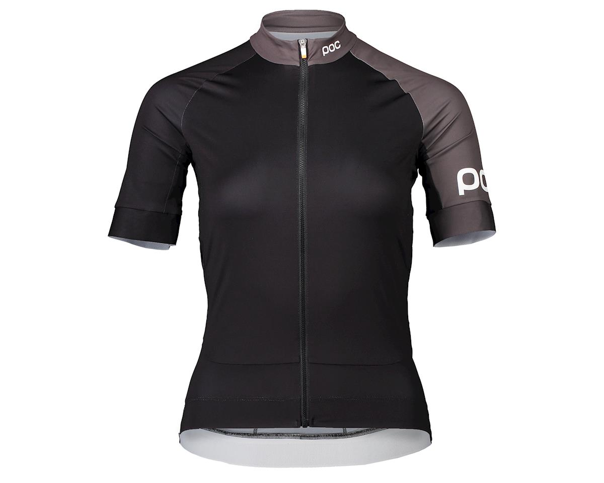 Poc Essential Road Women's Jersey (Uranium Black/Sylvanite Grey) (XL)