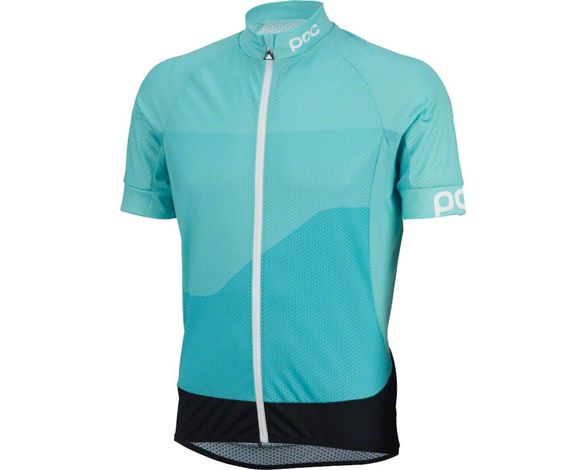 POC Fondo Gradient Light Men's Short Sleeve Jersey: Ocitron Multi Blue XL