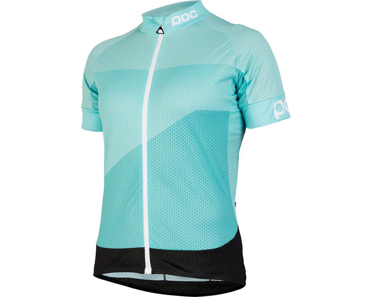 POC Fondo Gradient Light Women's Short Sleeve Jersey: Ocitron Multi Blue LG