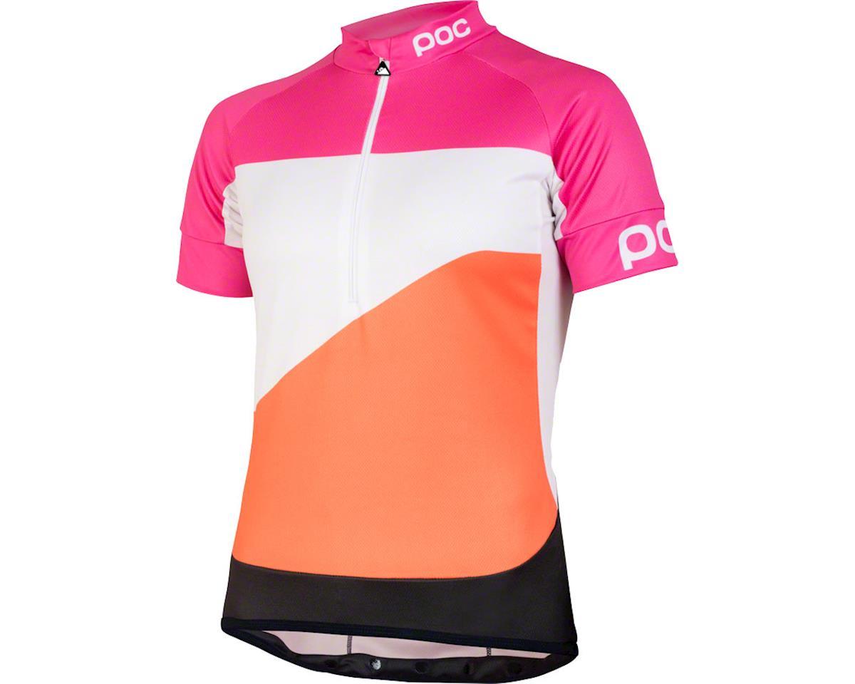 POC Fondo Gradient Classic Women's Short Sleeve Jersey: Theor Multi Pink LG