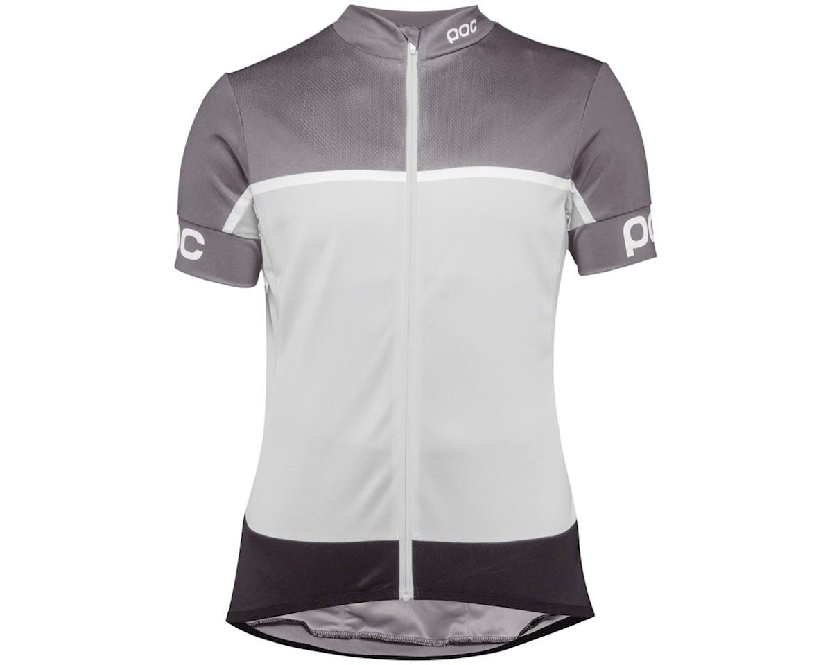 Poc Essential Road Women's Short Sleeve Jersey (Uranium Black/Bareelene Gray) (M)