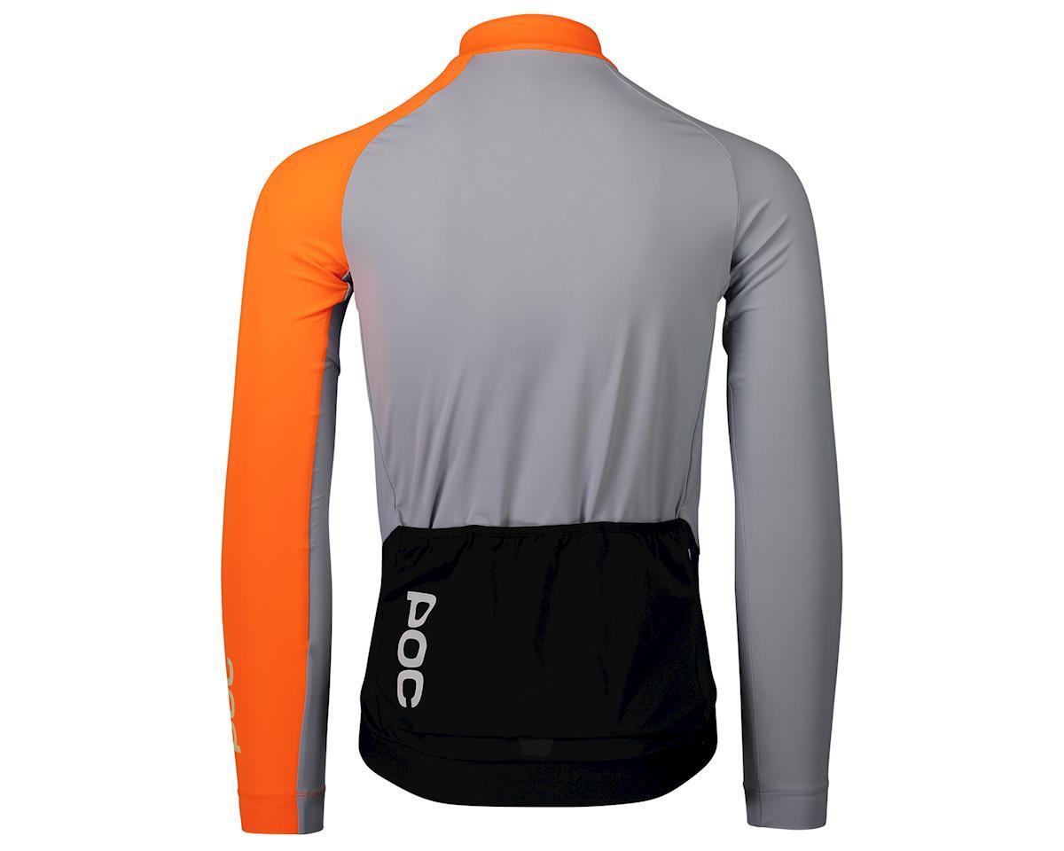 Poc Essential Road Mid Long Sleeve Jersey (Granite Grey/Zink Orange) (S)