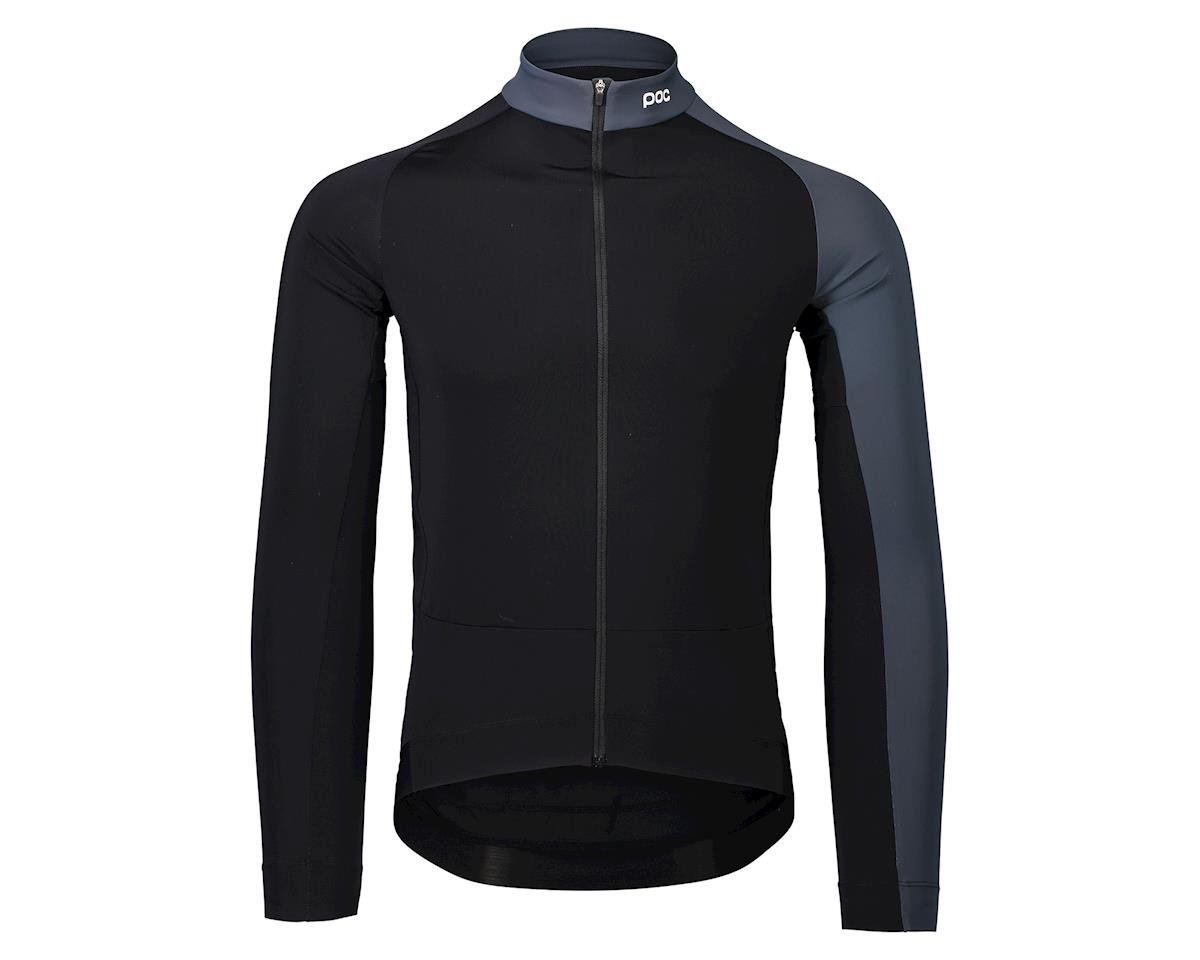 Poc Essential Road Mid Long Sleeve Jersey (Uranium Black/Sylvanite Grey) (L)