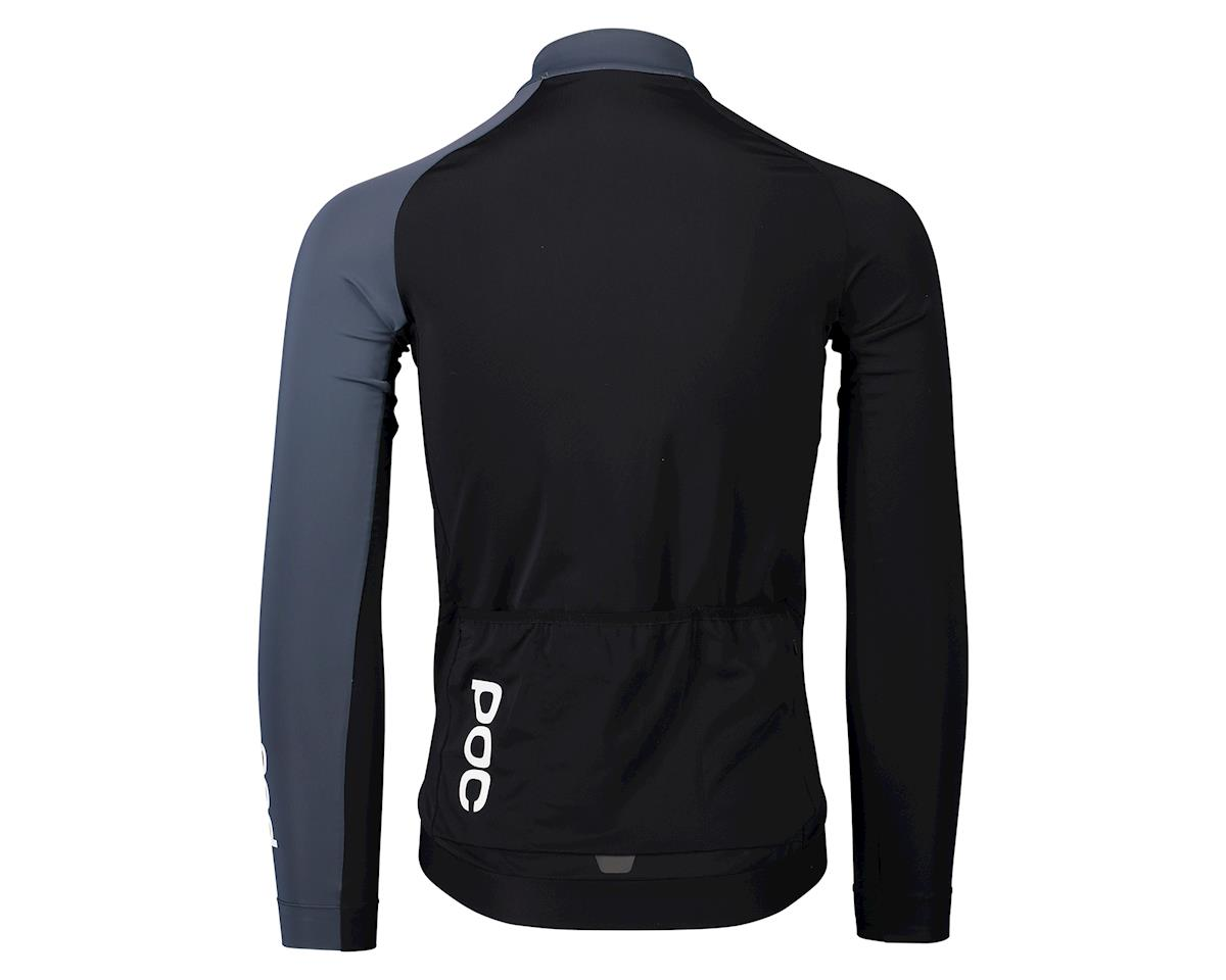 Image 2 for Poc Essential Road Mid Long Sleeve Jersey (Uranium Black/Sylvanite Grey) (S)