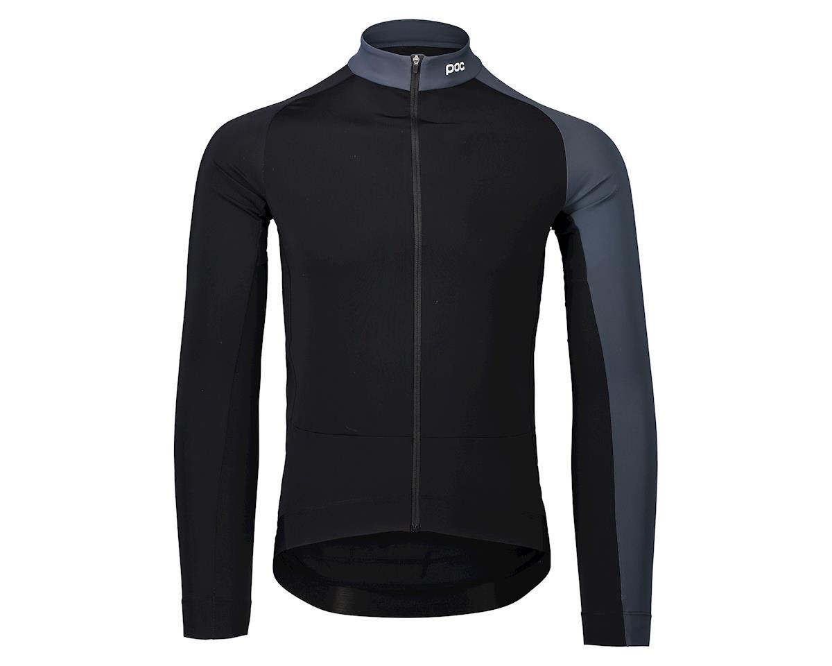 Poc Essential Road Mid Long Sleeve Jersey (Uranium Black/Sylvanite Grey) (XL)