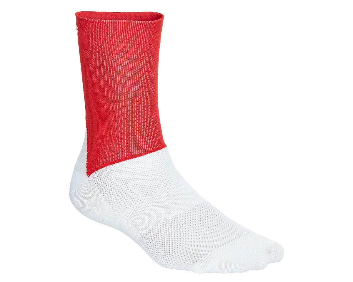Poc Essential Road Sock (Prismane Red/Hydrogen White) (L)