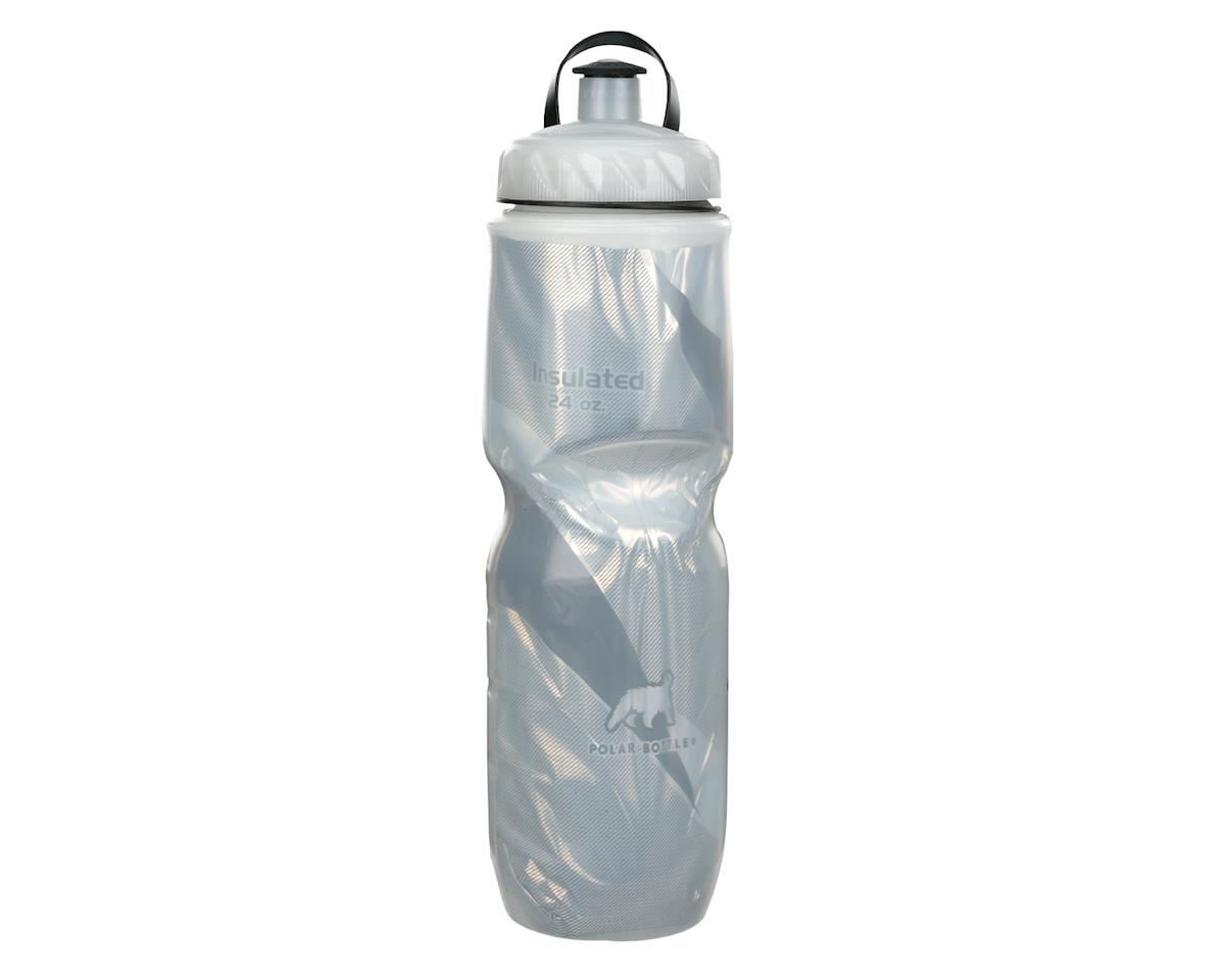 Polar Insulated 24oz Water Bottle - Pattern (Black)