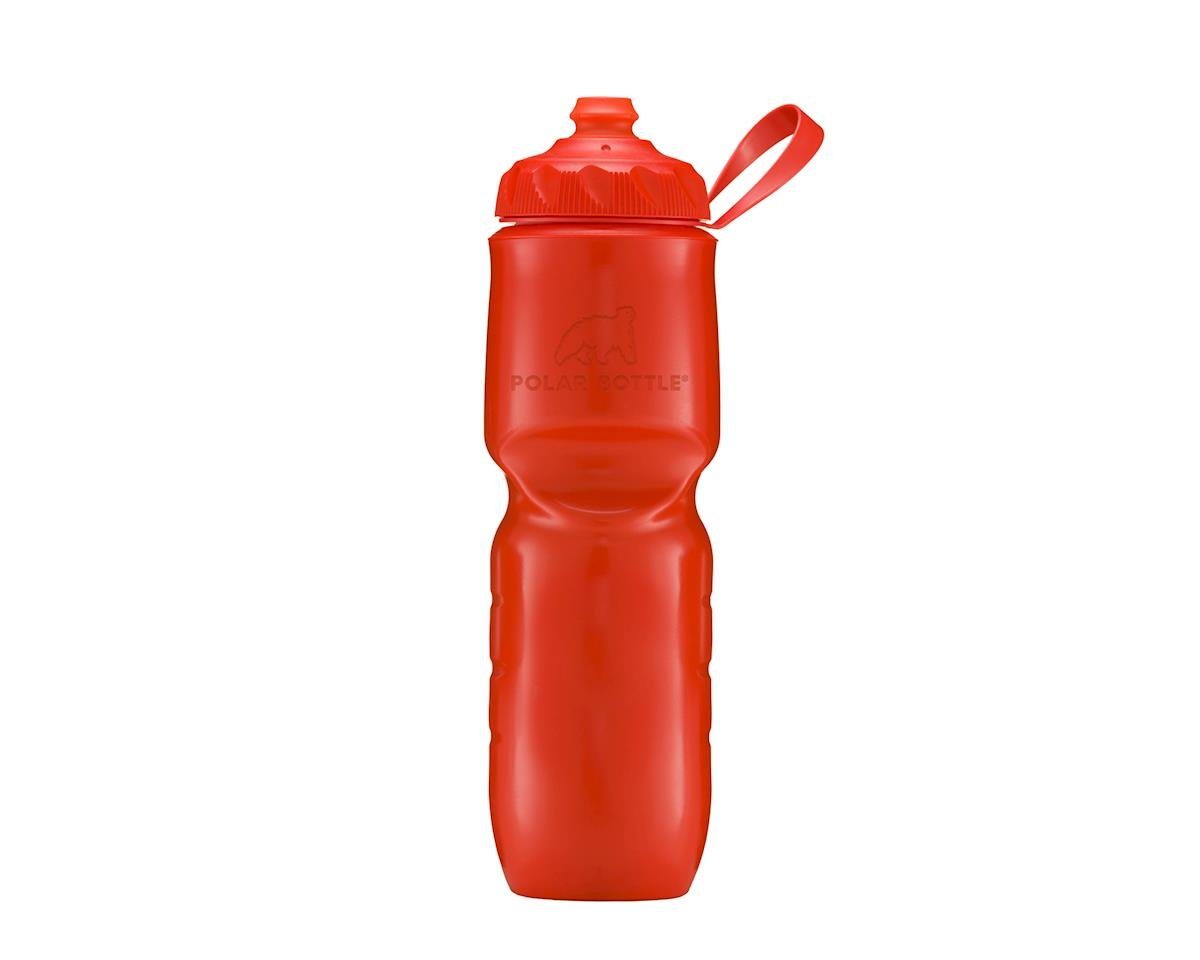 Polar Bottle Polar Bottles Insulated Water Bottle with ZipStream Cap: 24oz, Tomato
