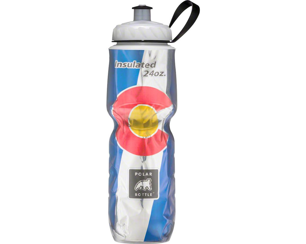 Polar Insulated Water Bottle: 24oz, Colorado State Flag