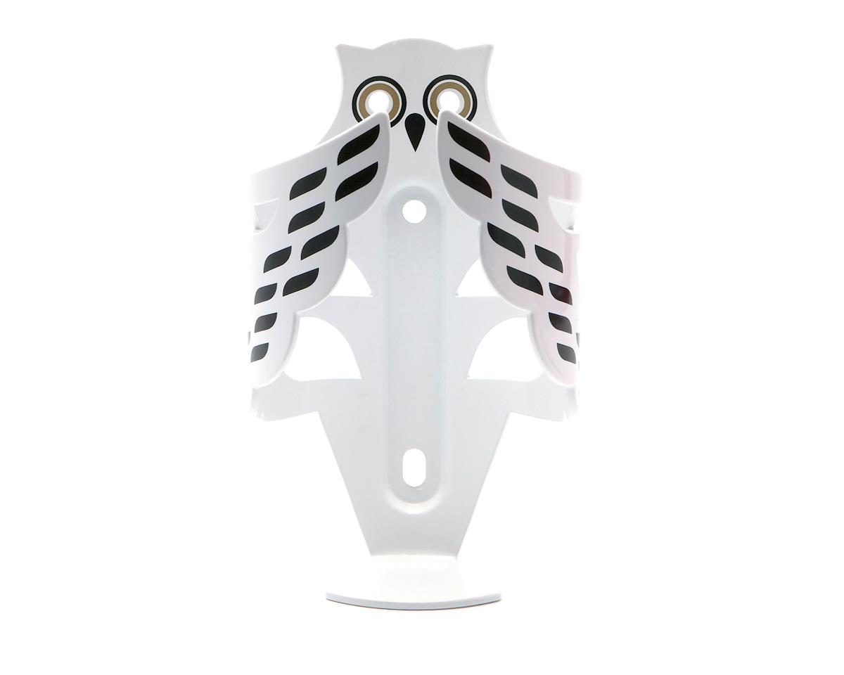 Portland Design Works The snow owl cage bottle cage, white/black/gold