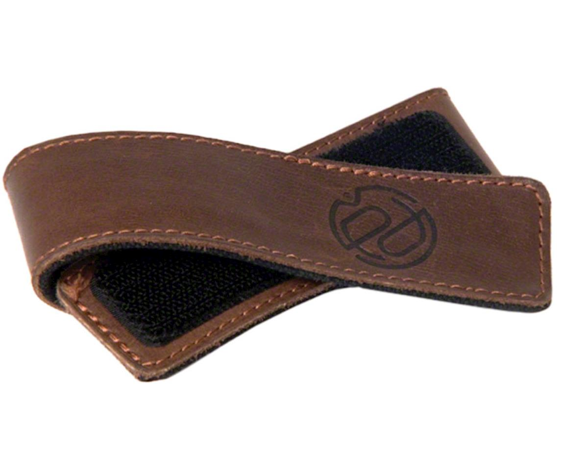 Portland Design Works Cuff Link Leather Leg Band: Brown