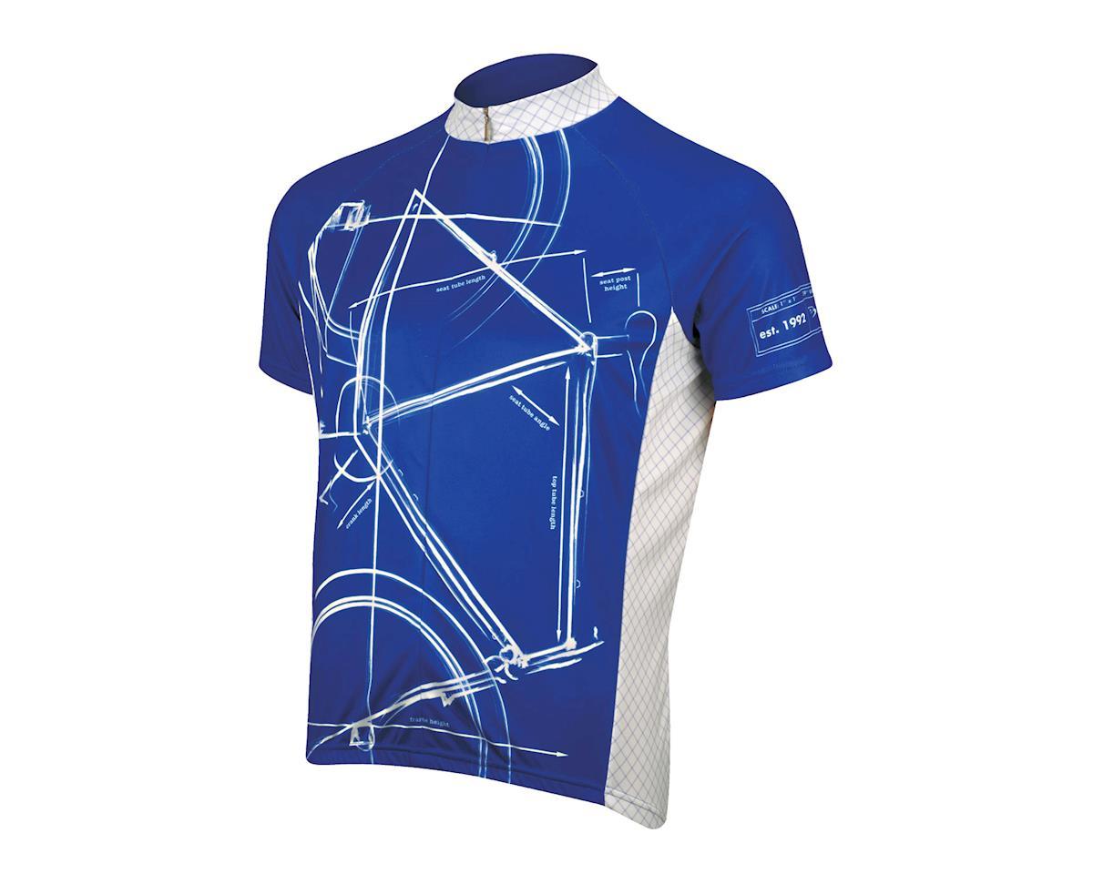 Primal Wear Bike Print Short Sleeve Jersey (Blue)