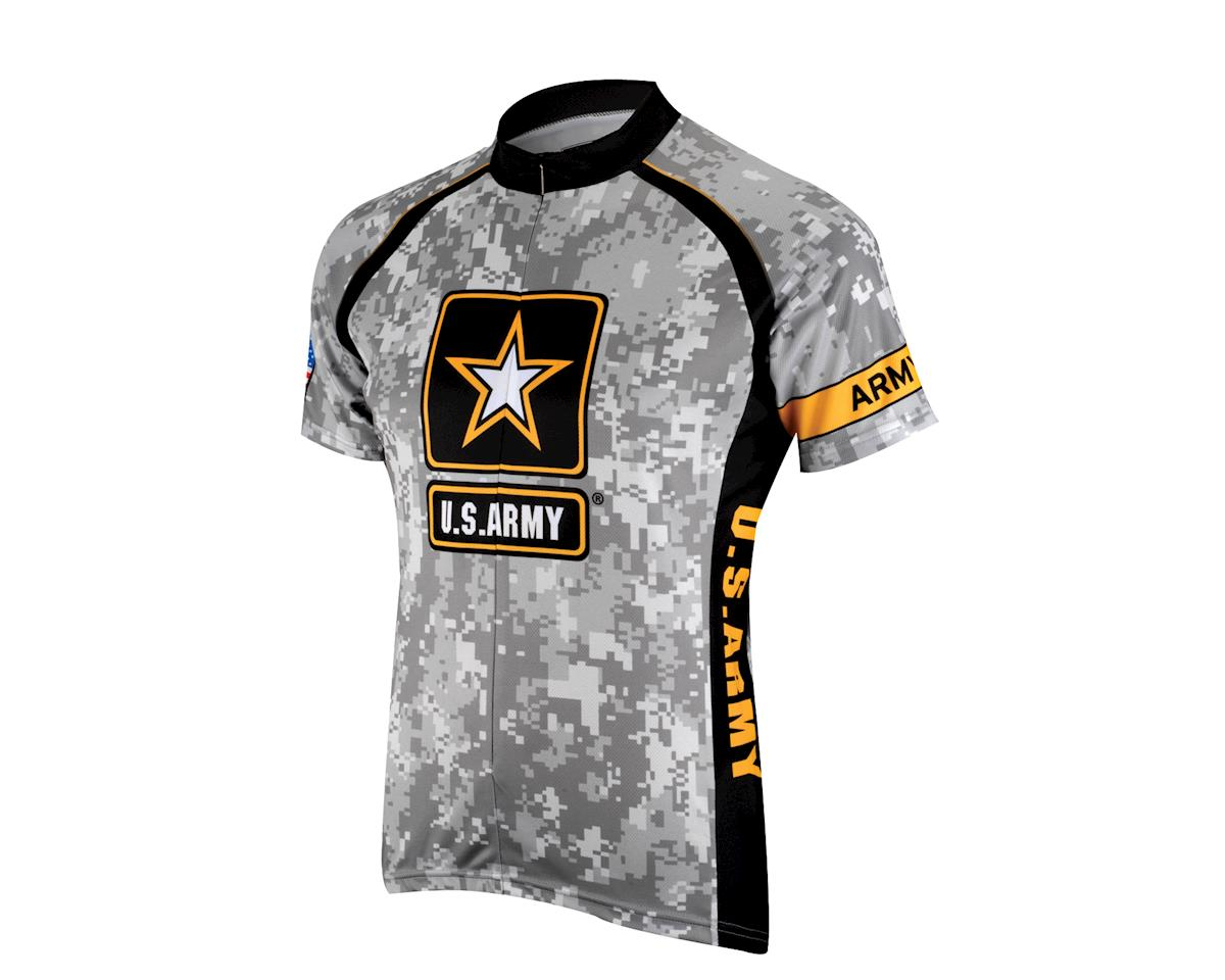 Primal Wear U.S. Army Camo Short Sleeve Jersey (Black) (Small)