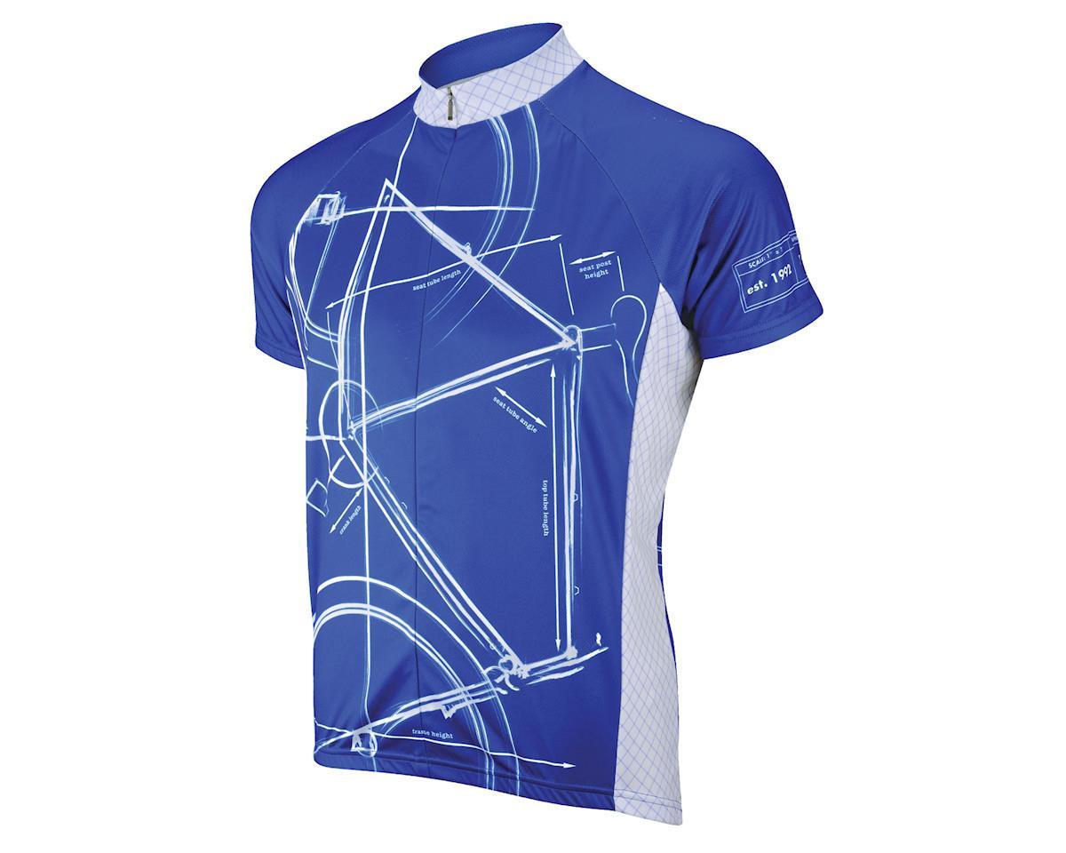 Primal Wear Bike Print Jersey (Blue)