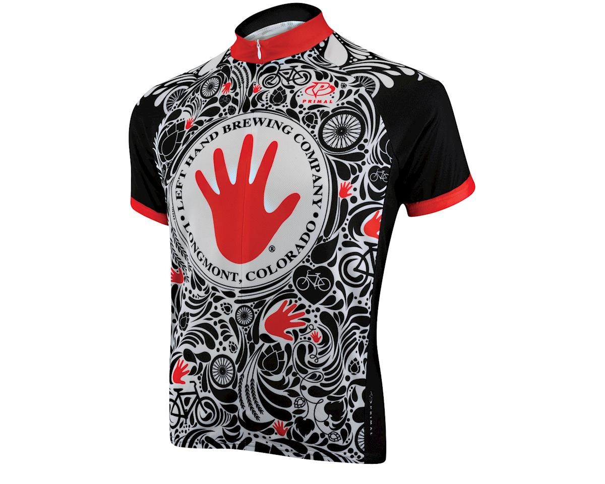 Image 1 for Primal Wear Left Hand Brewing Short Sleeve Jersey (Black/Red/White) (Xxxlarge)