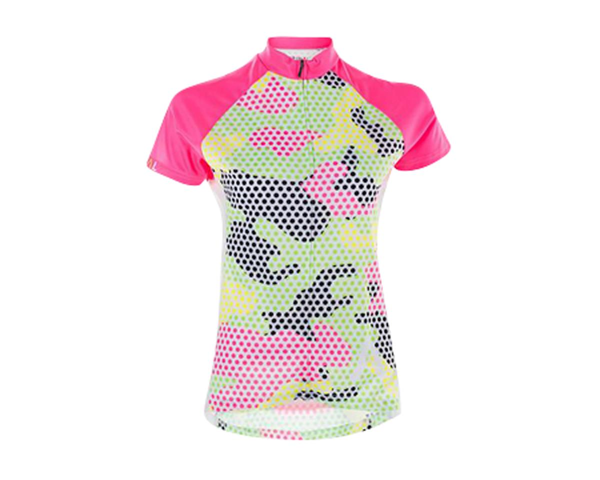 Image 1 for Primal Wear Mishmesh Women's Jersey (Green/Pink/Camo Print)