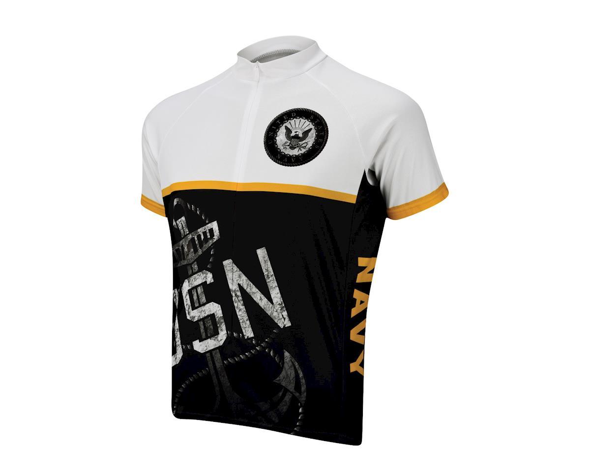 Primal Wear U.S. Navy Anchor Short Sleeve Jersey (Black/White) (Xxxlarge)