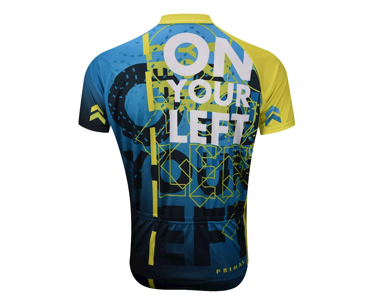Primal Wear On Your Left Short Sleeve Jersey (Blue) (Medium)