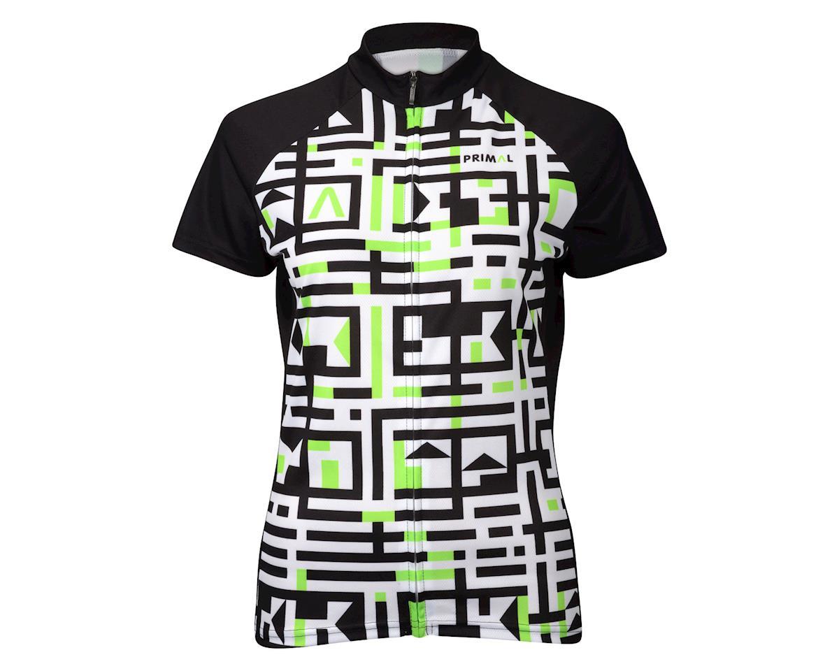 Primal Wear Women's A-Maze-Ing Short Sleeve Jersey (White/Black/Green) (Xlarge)