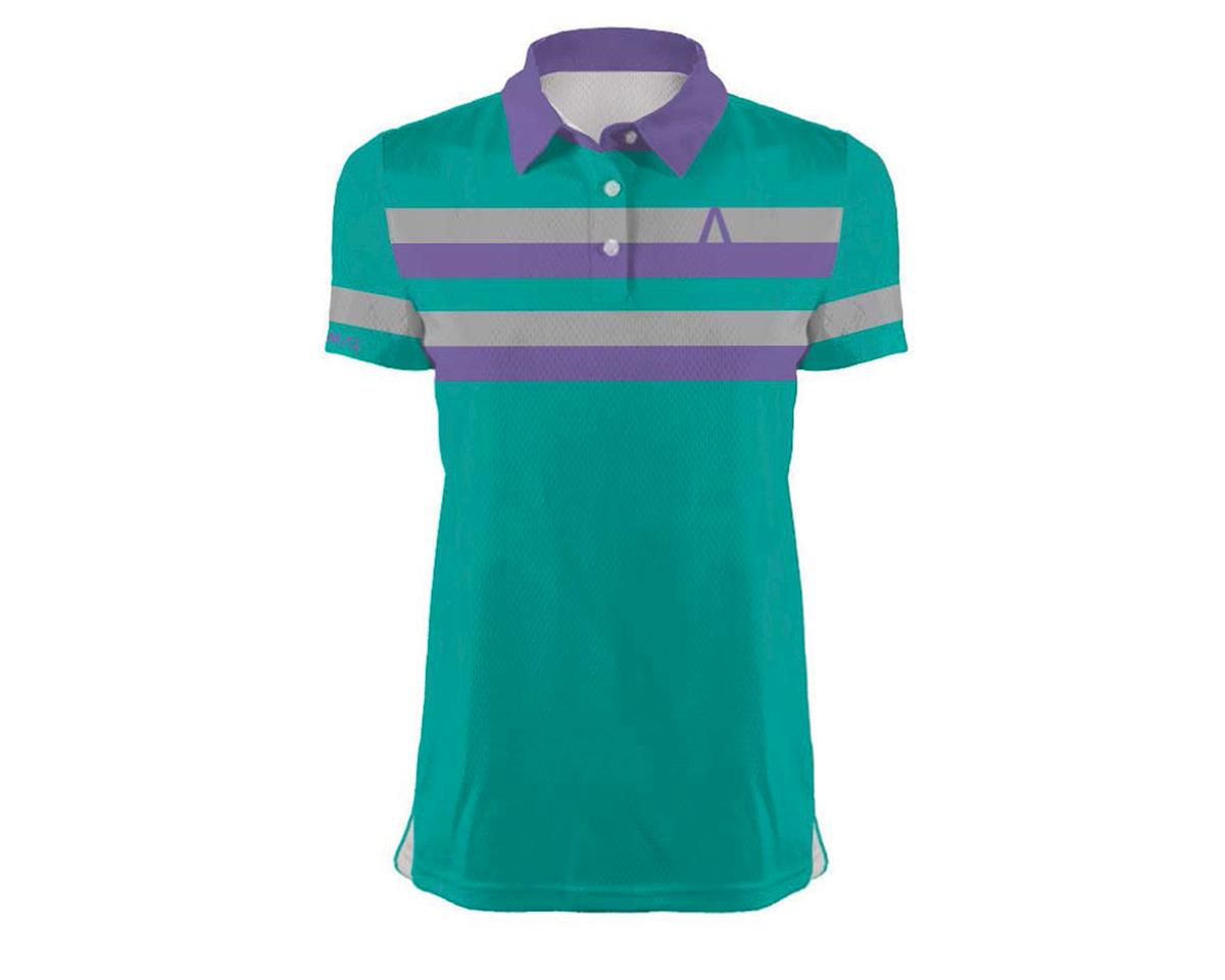 Image 1 for Primal Wear Women's Kick Saunder Polo Shirt (Teal/Stripe)