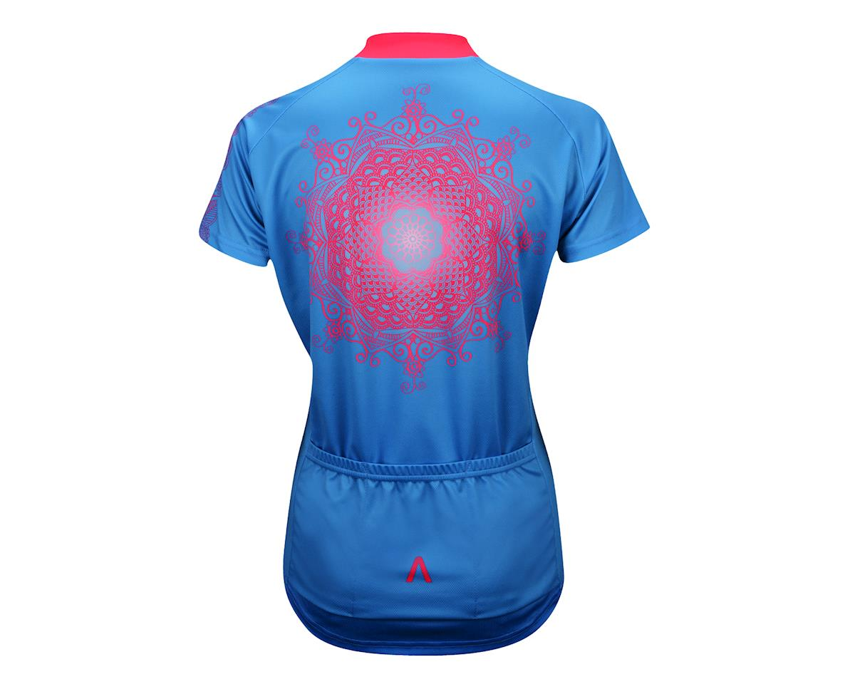 Primal Wear Women's Kashmir Short Sleeve Jersey - Performance Exclusive (Blue/Pink) (Xxlarge)