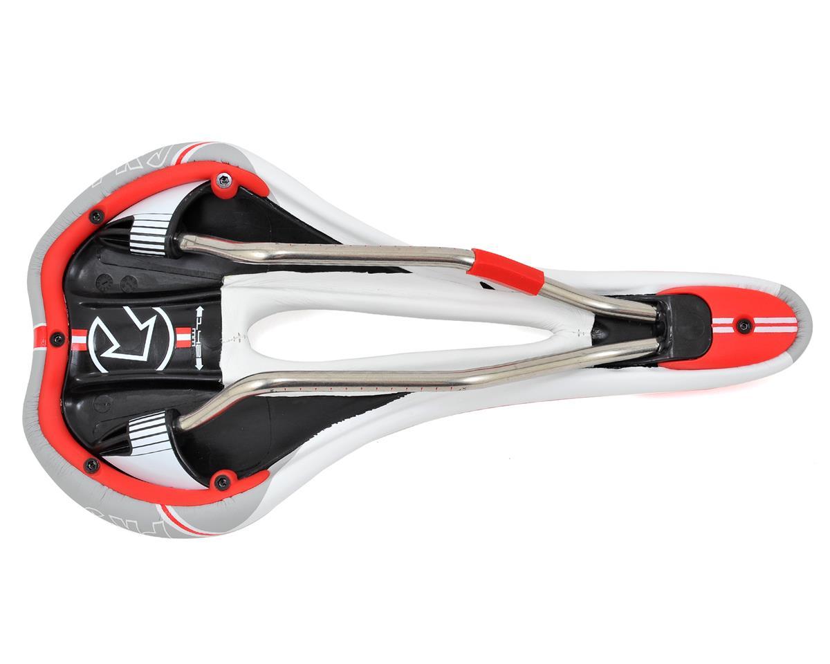 Pro Turnix Ti AF Saddle (White/Gray/Red)