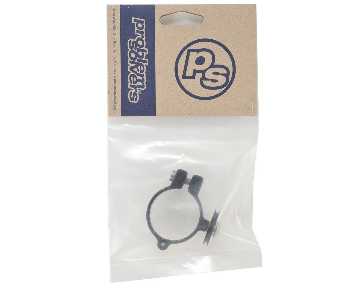 Problem Solvers Cross Front Derailleur Clamp With Cable Pulley (34.9) (Black)