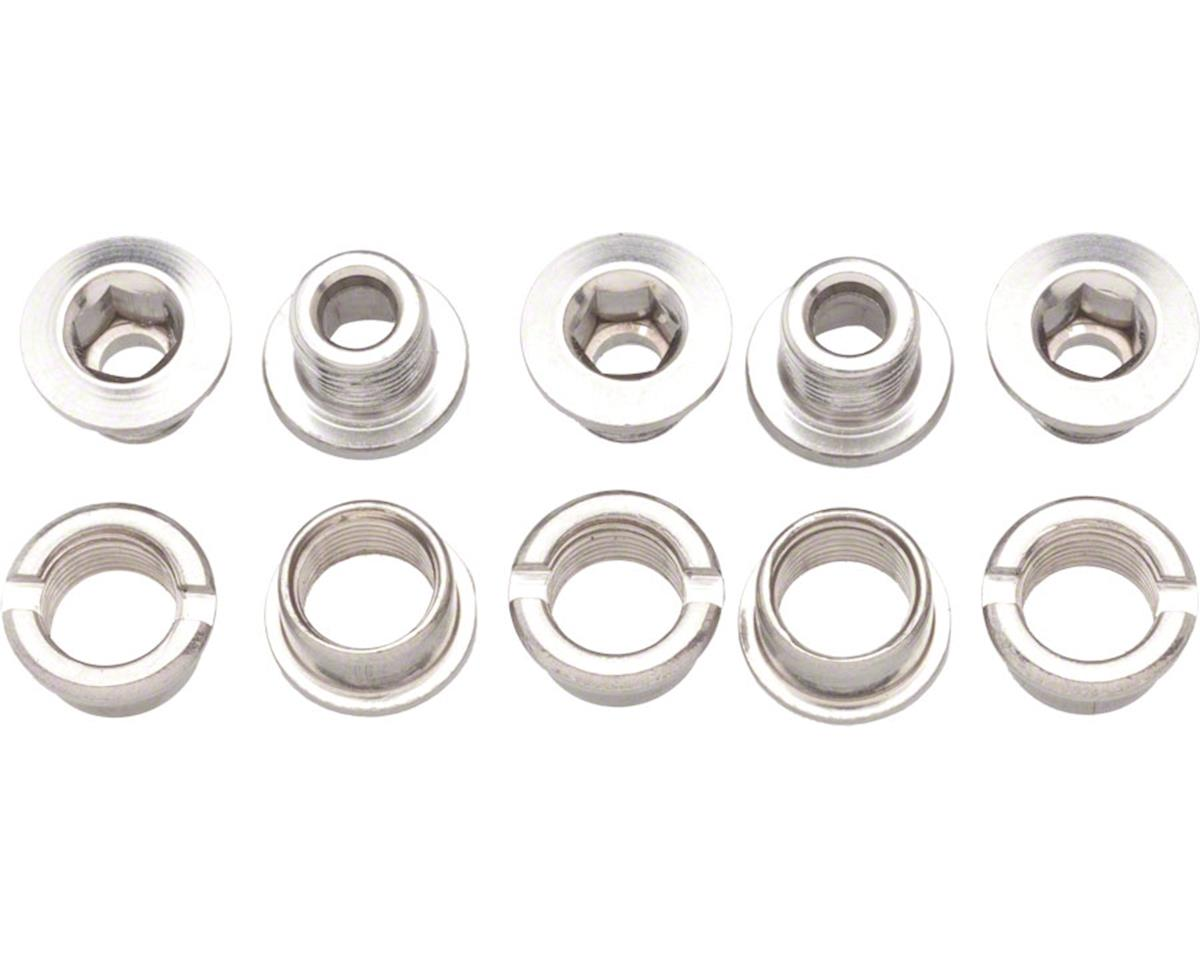 Problem Solvers Double Chainring Bolts Silver Alloy