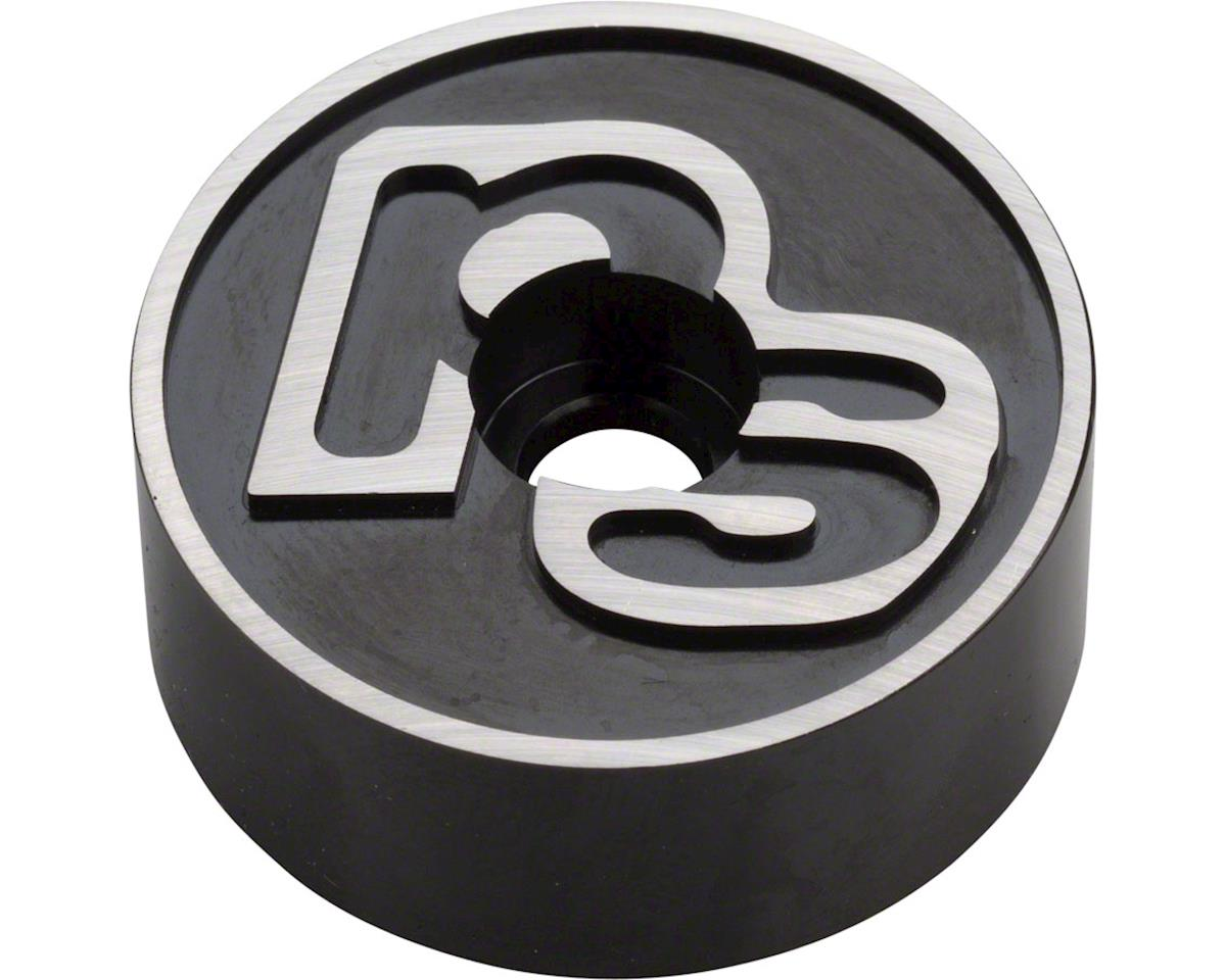 Problem Solvers Pog Top Cap & 10mm Headset Spacer (Black w/ Logo)