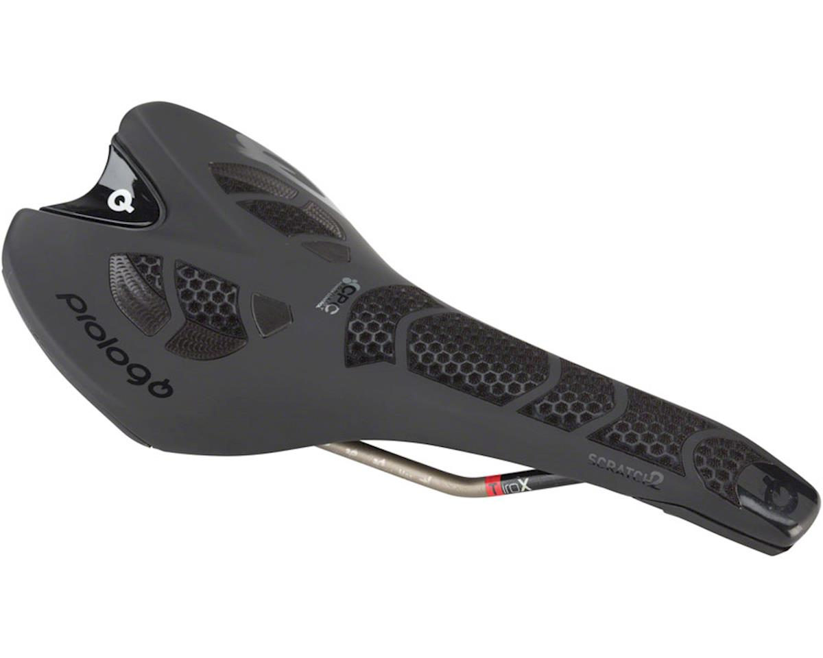 Prologo Scratch 2 CPC Airing Saddle, 134mm wide, Ti-Rox alloy rails: Hard Black