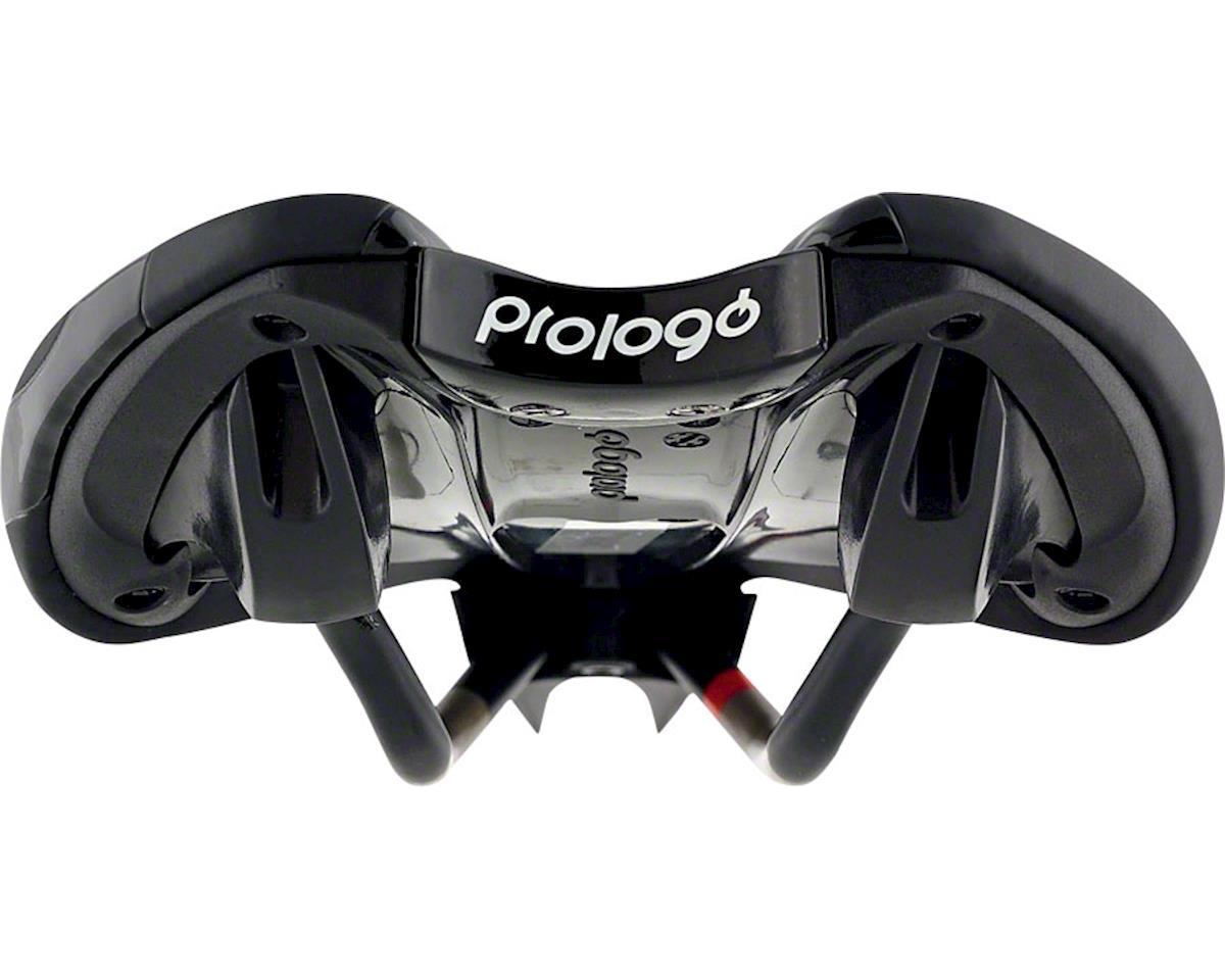 Prologo Zero Pas TRI Triathlon Saddle, 134mm wide, Ti-Rox alloy rails: Hard Blac
