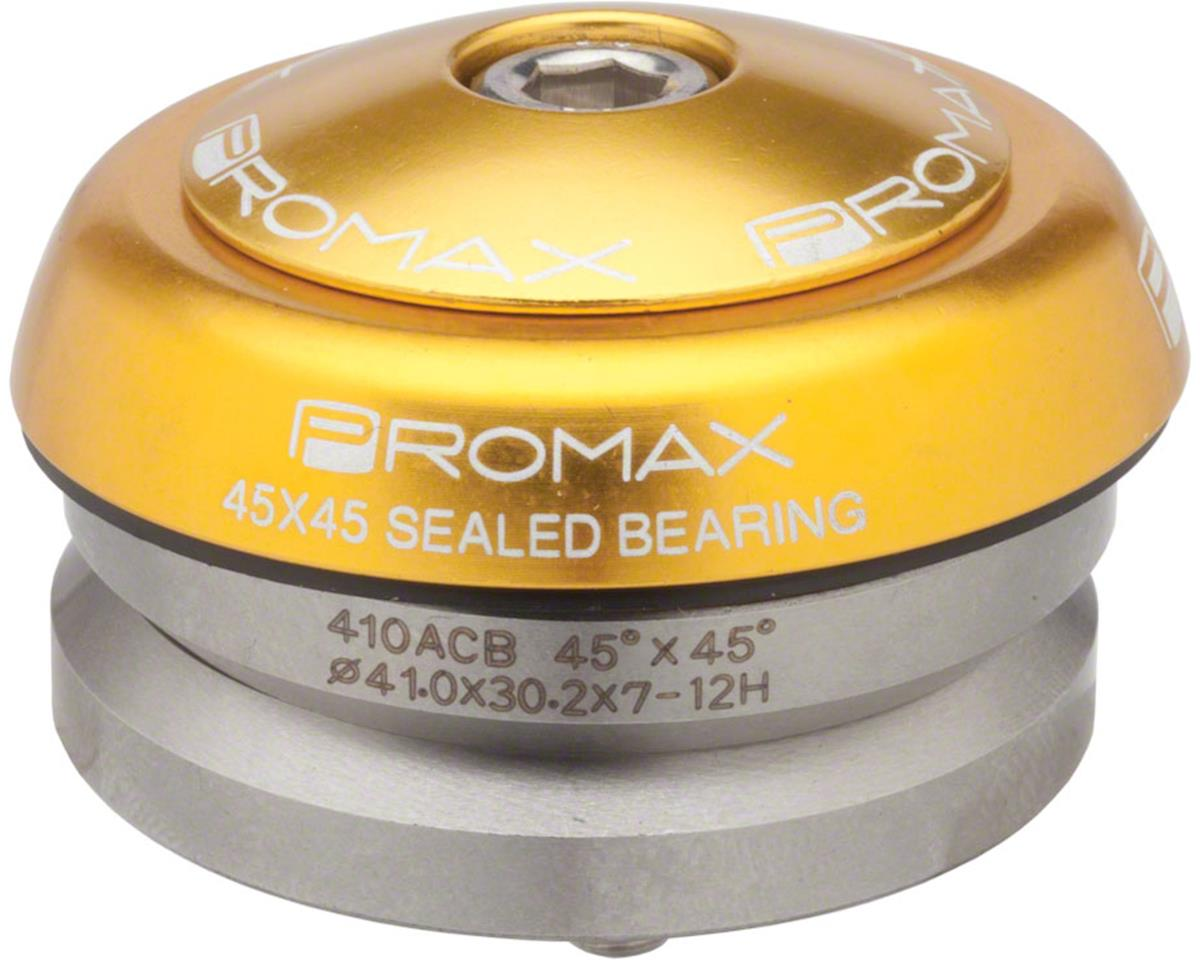 "Promax IG-45 Alloy Sealed Integrated 45x45 1-1/8"" Headset Gold"