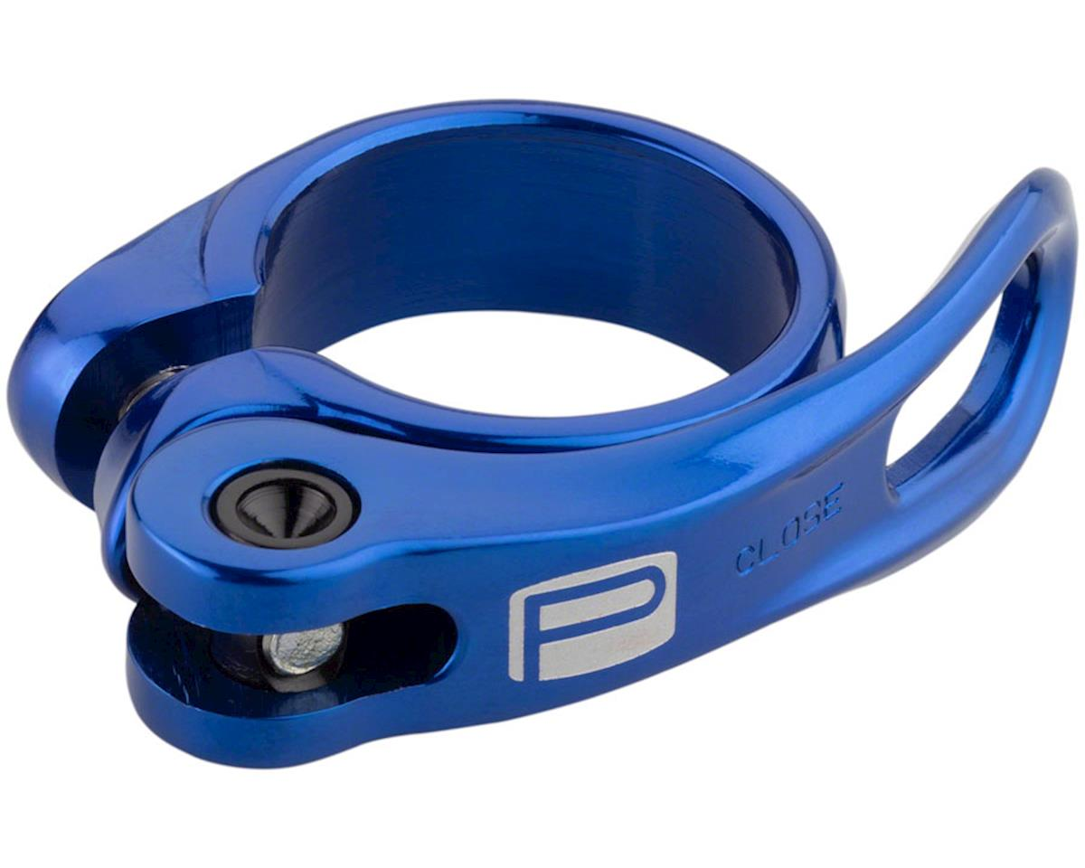 New Promax QR-1 Quick Release Seat Clamp 31.8mm Blue