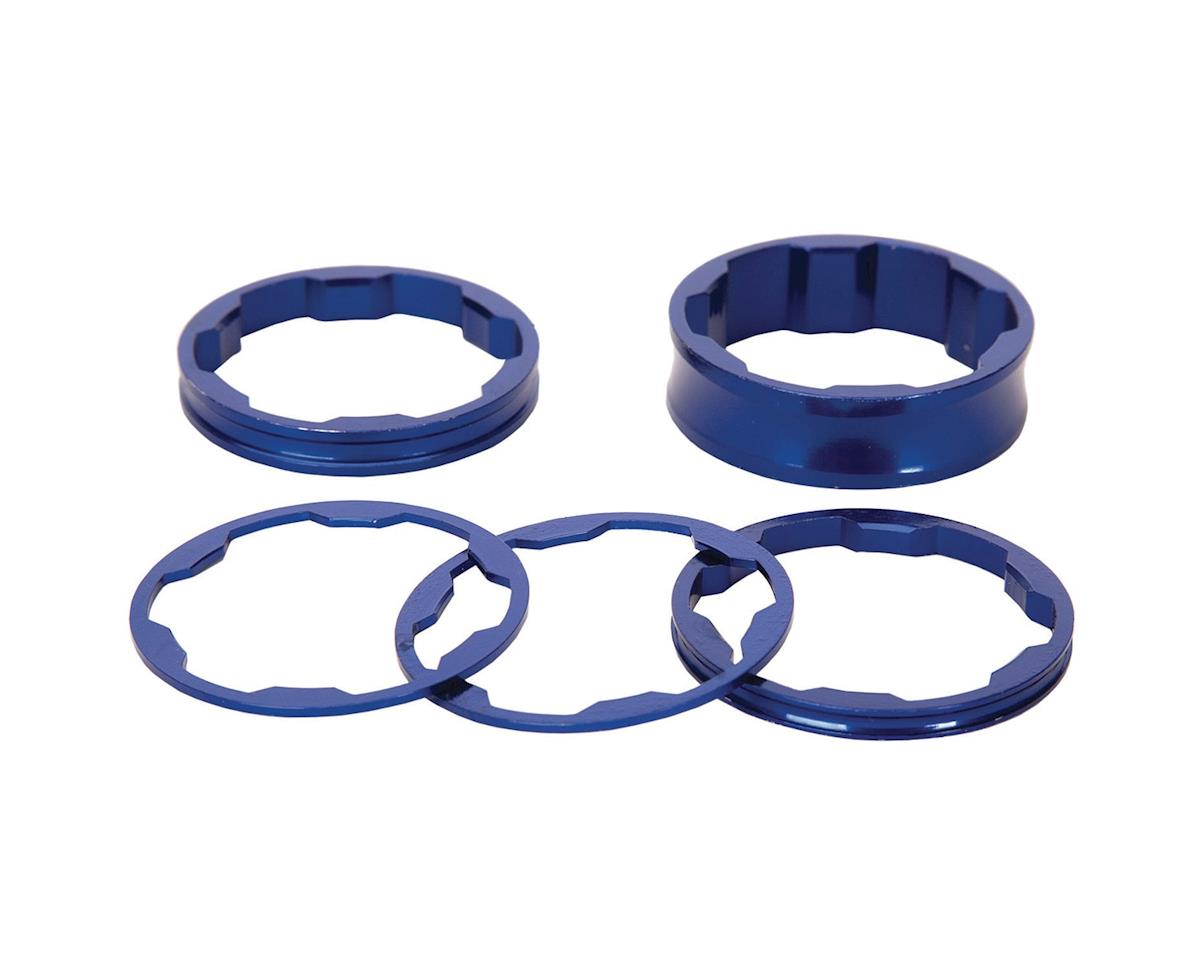 "Promax 1"" Stem Spacer Kit 10-5-3-1mm Spacers Blue"